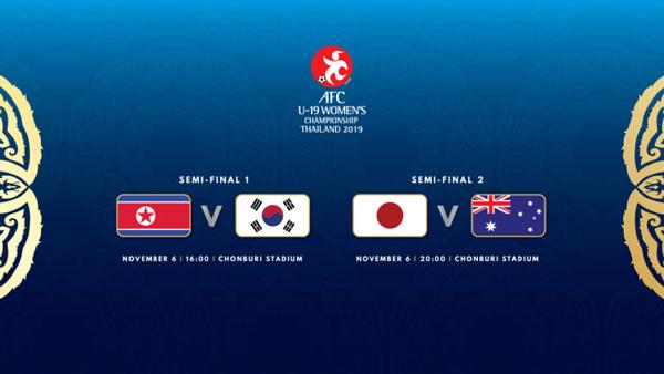 VCK U19 nữ châu Á: Nhận diện 4 đội vào bán kết