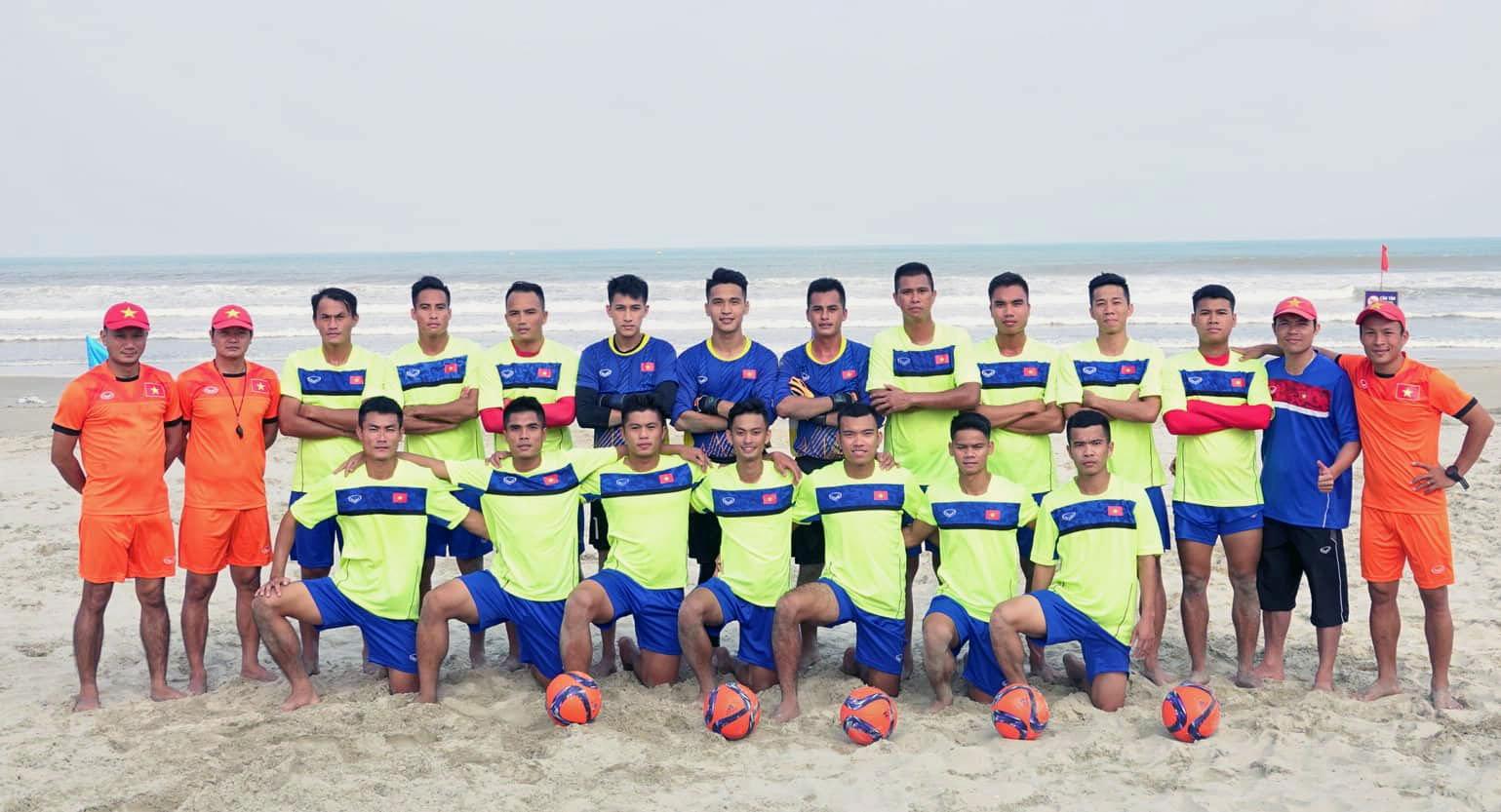 Danh sách ĐT bóng đá bãi biển QG tập trung chuẩn bị cho Giải vô địch Đông Nam Á 2019