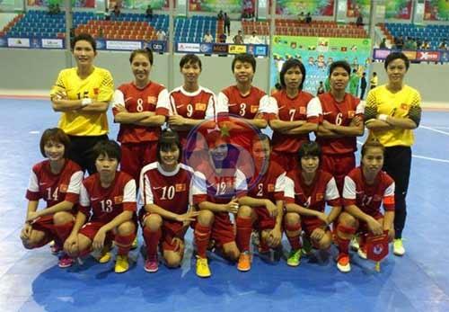 Giải Futsal nữ Đông Nam Á 2013 (1/10): Việt Nam vào chung kết với Thái Lan