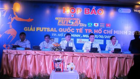 ĐT Việt Nam sẵn sàng tiếp 3 đối thủ cực mạnh tại giải Futsal quốc tế 2013