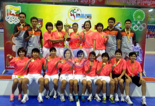 Việt Nam xuất sắc đánh bại Thái Lan để vô địch giải Futsal nữ Đông Nam Á 2013