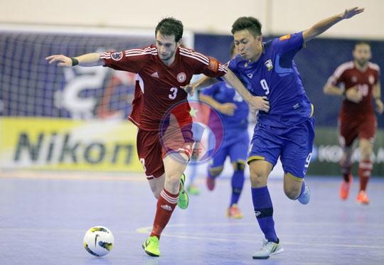 VCK Futsal châu Á 2014 (ngày 5/5): Lebanon vào tứ kết qua khe cửa hẹp