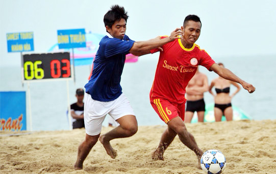 Giải bóng đá bãi biển - Đại hội TDTT toàn quốc lần thứ VII-2014: Đà Nẵng sẽ gặp Bình Thuận
