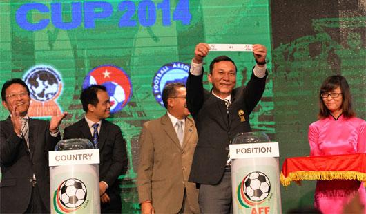 Kết quả bốc thăm AFF Suzuki Cup 2014: Việt Nam cùng bảng Philippines và Indonesia
