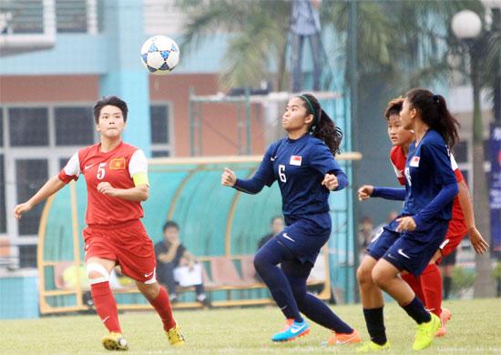 Vòng loại U19 nữ Châu Á 2015 (bảng C): Việt Nam thắng đậm trận mở màn