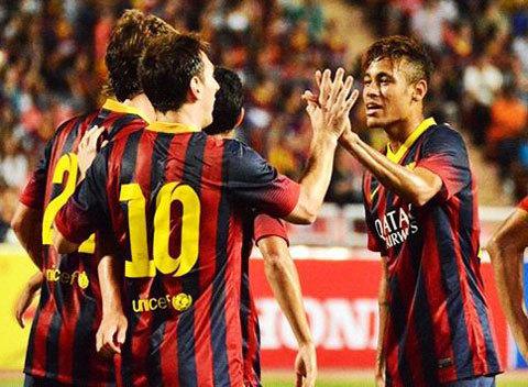 Thái Lan 1-7 Barca, Neymar 'mở hàng' tại xứ Chùa vàng