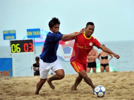 Giải bóng đá bãi biển - Đại hội TDTT toàn quốc lần thứ VII-2014: Khánh Hòa gặp Đà Nẵng tranh Huy chương Vàng