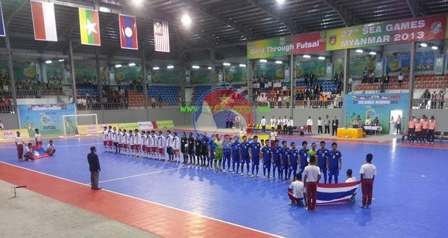 Bảng B Futsal nam SEA Games 27 (9/12): Thái Lan trút cơn mưa bàn thắng vào lưới Lào