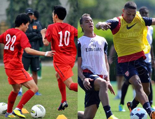 Lịch tập của ĐT Việt Nam và CLB Arsenal chuẩn bị cho trận giao hữu ngày 17/7
