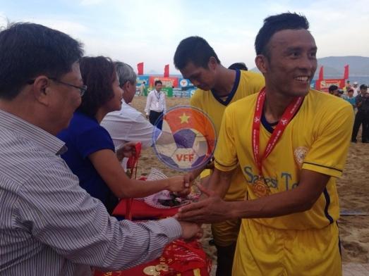Giải bóng đá Bãi biển - Đại hội TDTT toàn quốc lần thứ VII-2014: Khánh Hòa giành HCV