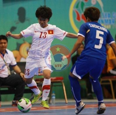 Môn Futsal nữ SEA Games 27 (14/12), Việt Nam - Thái Lan: 1-6