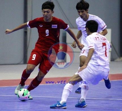 Môn Futsal nam SEA Games 27 (15/12), Việt Nam - Thái Lan: 0-4