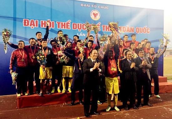 Chung kết bóng đá nam Đại hội TDTT toàn quốc 2014: Nghệ An giành huy chương Vàng