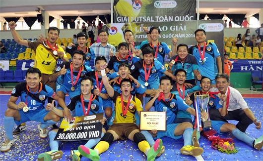 Giải Futsal toàn quốc năm 2014: Thái Sơn Nam bảo vệ thành công ngôi vô địch