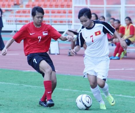 Giải BĐ U19 nữ Đông Nam Á 2014 (18/8): Việt Nam đại thắng trận mở màn