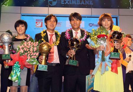 Huỳnh Quốc Anh và Đặng Kiều Trinh đoạt Quả bóng Vàng 2012