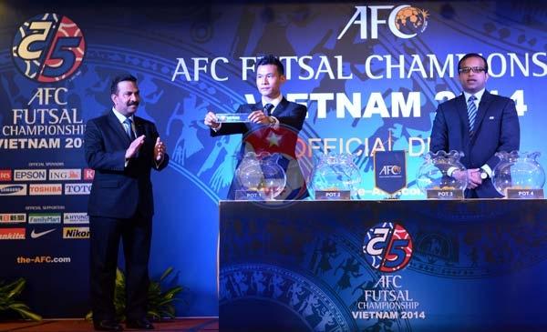 Kết quả bốc thăm và xếp lịch thi đấu VCK giải Futsal châu Á 2014