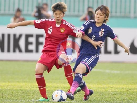 Bán kết 1 VCK Asian Cup nữ 2014 (22/5): Đánh bại Trung Quốc 2-1, Nhật Bản tiến gần hơn ngôi vô địch