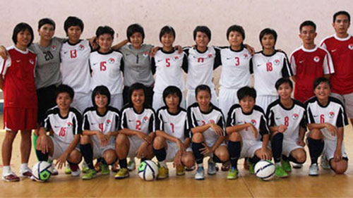 Danh sách ĐT Futsal nữ QG tập trung đợt 1 chuẩn bị tham dự Đại hội thể thao châu Á trong nhà 2013