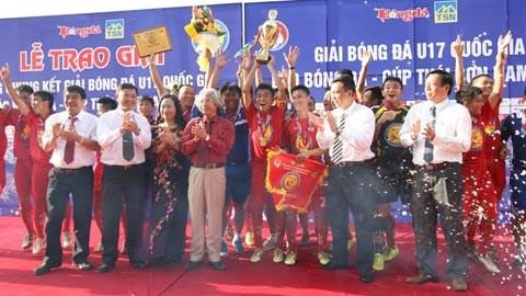 Thắng Hà Nội T&T 2-0, PVF vô địch giải U17 QG báo Bóng đá- Cúp Thái Sơn Nam 2014