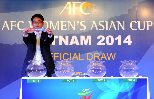 Kết quả Bốc thăm VCK Asian Cup nữ 2014: Việt Nam cùng bảng Australia, Nhật Bản và Jordan
