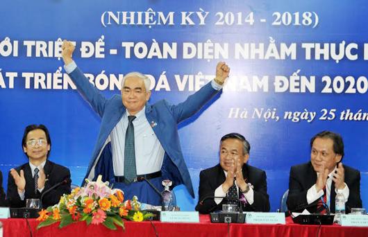Ông Lê Hùng Dũng trúng cử chức danh Chủ tịch LĐBĐVN khoá VII (Nhiệm kỳ 2014-2018)